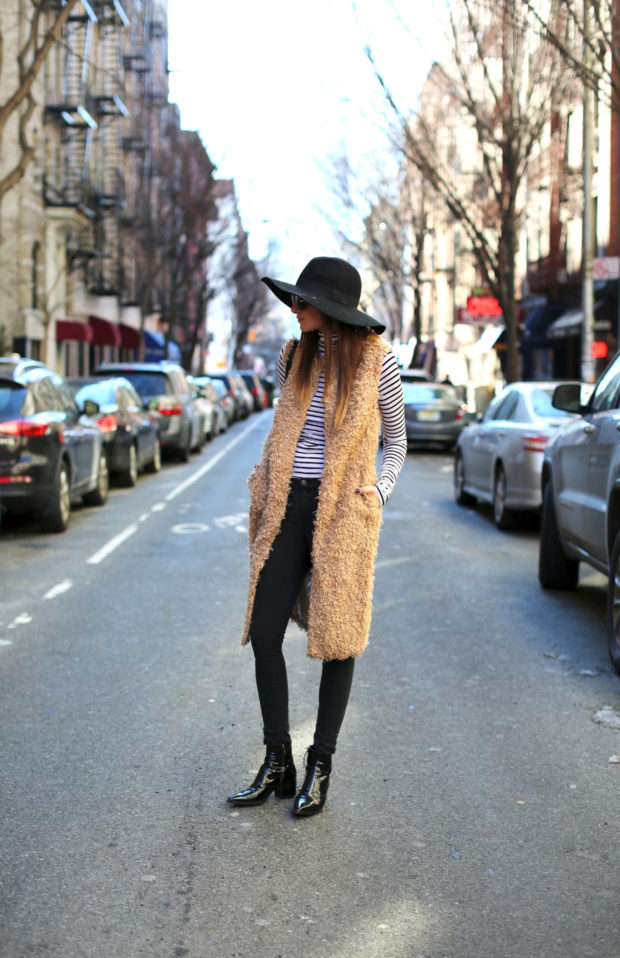20 Stylish Ideas for How To Wear A Fur Vest This Fall