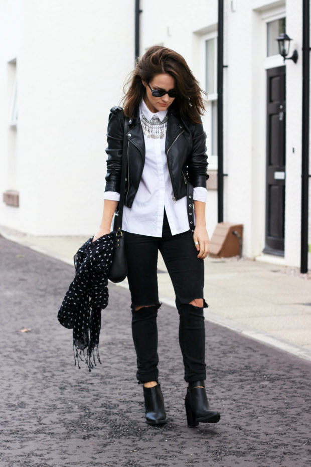 17 Cool Ways to Style a Leather Jacket This Fall