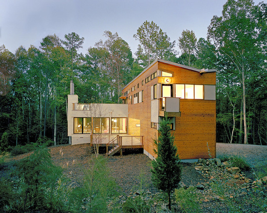 16 Forest House Stunning Exterior Design Ideas in Contemporary Style