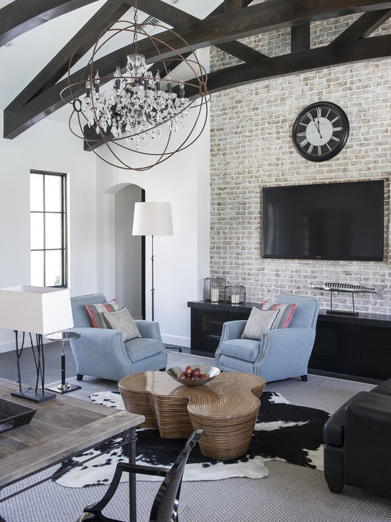 16 Cool Living Rooms Design Ideas with Brick Walls