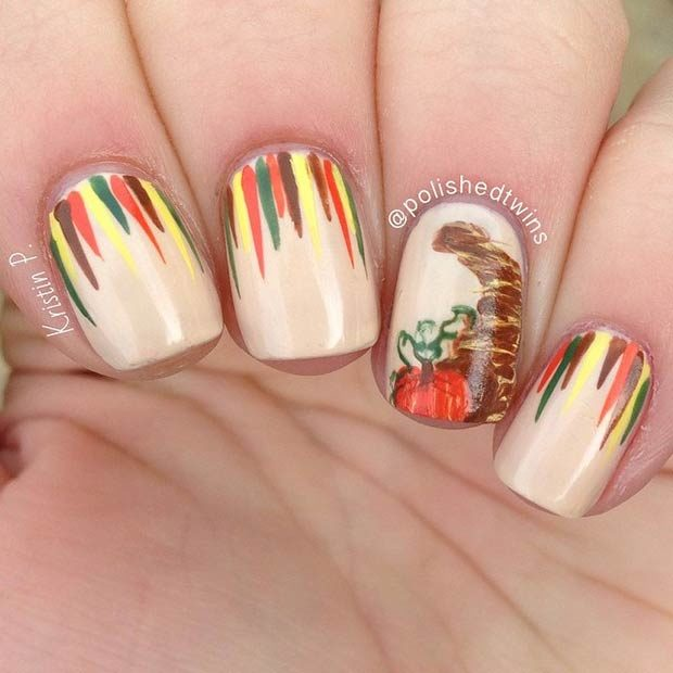 15 Amazing Thanksgiving Nail Art Ideas