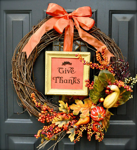 16 Festive DIY Thanksgiving Wreaths Ideas