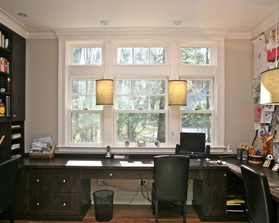 Working at the Window: 18 Home Office Design Inspiration