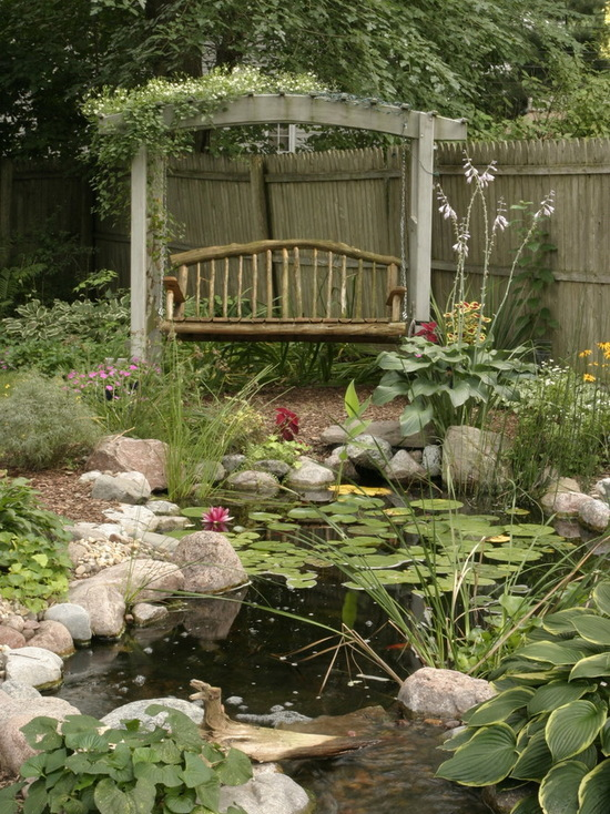 17 Landscaping Ideas for Garden Swing