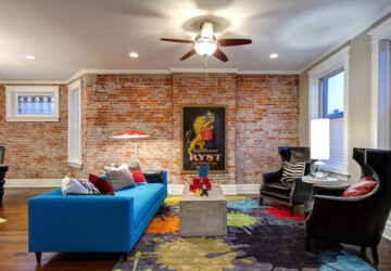 16 Cool Living Rooms Design Ideas with Brick Walls - Living Roomswith Brick Walls, Living Rooms Design Ideas with Brick Walls, living room design ideas, Brick Walls, brick wall living room, brick wall