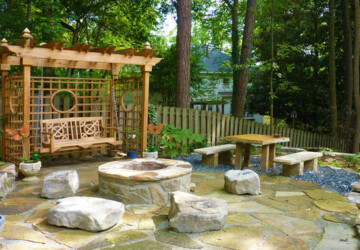 17 Landscaping Ideas for Garden Swing - landscaping garden patio, Garden Swing, garden ideas, garden, Backyard Landscaping Ideas