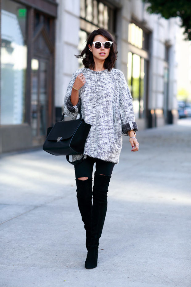 17 Street Style Outfit Ideas with Black Skinny Jeans