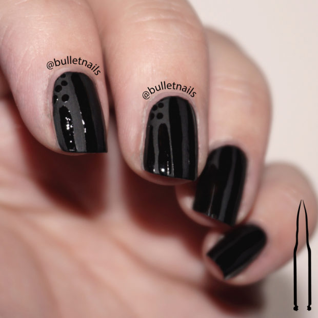 15 Amazing Nail Art Ideas with Black Base