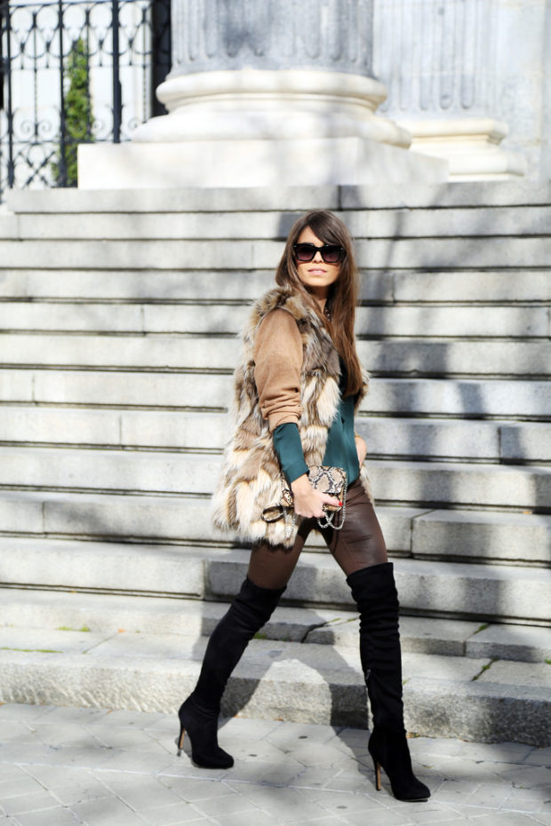 Over The Knee Boots: 18 Ideas How to Style Them This Season (Part 1)