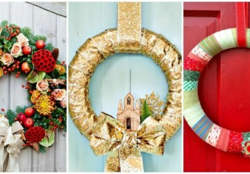 17 Festive DIY Christmas Wreaths Ideas You Can Easily Make - DIY Wreaths Ideas, diy wreath, Diy Christmas Wreath, Diy Christmas, Christmas wreath