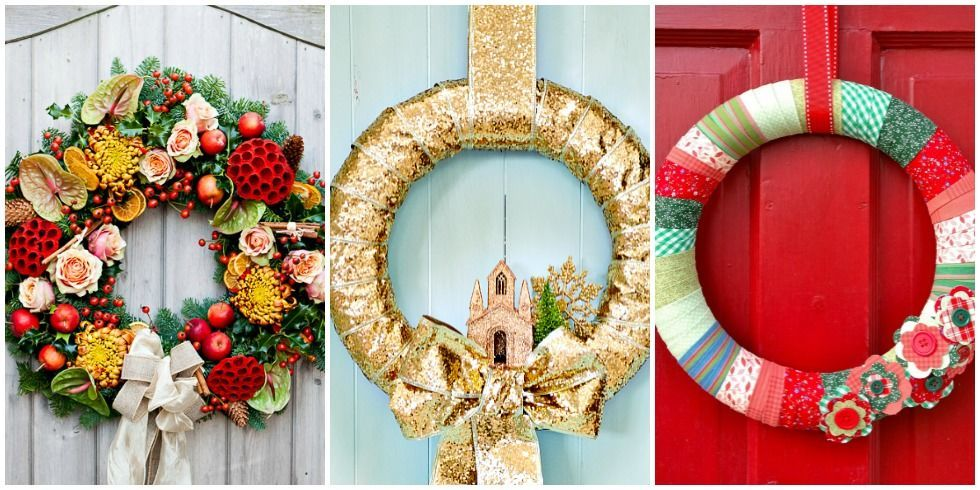17 festive diy christmas wreaths ideas you can easily make style motivation - Awesome christmas wreath with homemade style ...