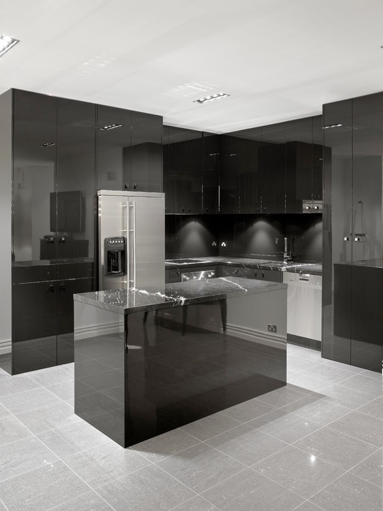 16 Elegant Black Kitchen Design Ideas