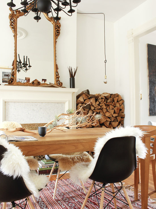 18 Fabulous Ways to Decorate your Chairs with Sheepskins Covers