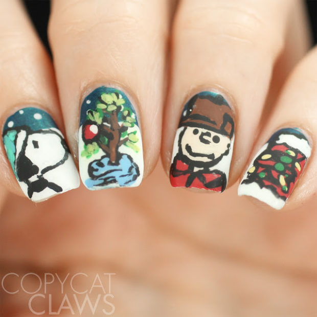 15 Cute Charismas Nail Art Ideas Inspired by Holiday Movies
