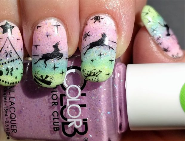 16 Pastel Winter Inspired Nail Art Ideas