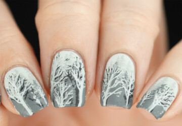 17 Stunning Winter Nail Art Ideas - winter nail design, winter Nail Art Ideas, winter nail art, nail art ideas