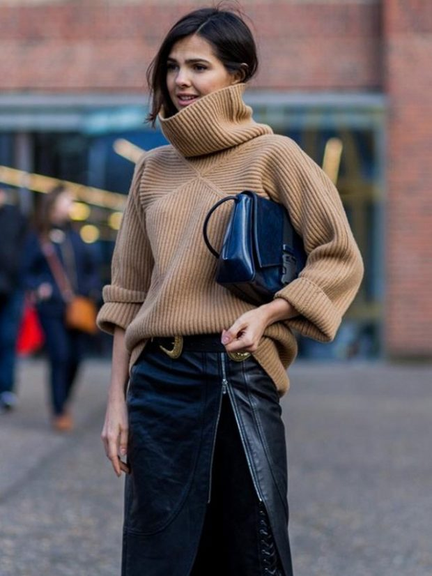 18 Stylish Outfit Ideas How To Make A Turtleneck Look Cool