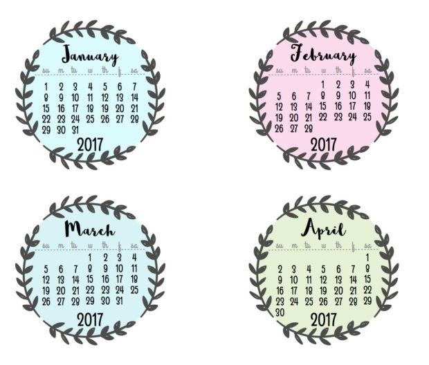 Get Your Life Organized: 15 Great Free Printable Calendars For 2017