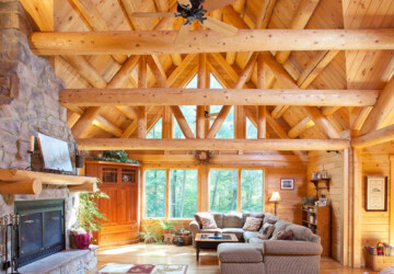 18 Cozy and Rustic Cabin Living Room Design Ideas - rustic living room, Rustic Cabin Living Room, mountain cabin, cozy living room, Cozy Cabins, Cozy and Rustic Cabin Living Room, Cabin Living Room