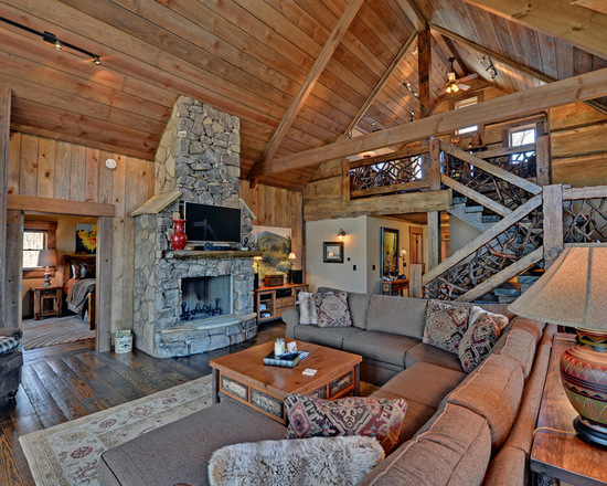 18 Cozy And Rustic Cabin Living Room Design Ideas