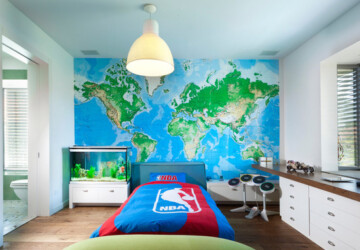 18 Amazing Ideas for Decorating with Maps - wall art, Maps, home decor, Decorating with Maps, Bedroom Wall Art