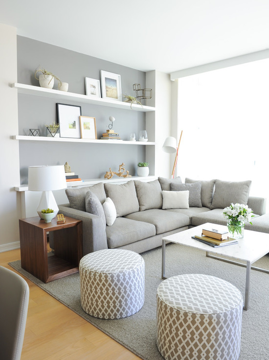 16 Clever Ideas for Living Room Shelving