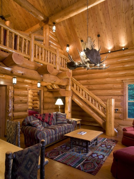 18 cozy and rustic cabin living room design ideas style for Small cabin living room ideas