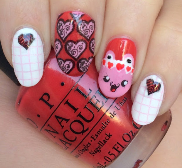 16 Cute Red And Pink Nail Designs You Can Rock For The Month Of Love