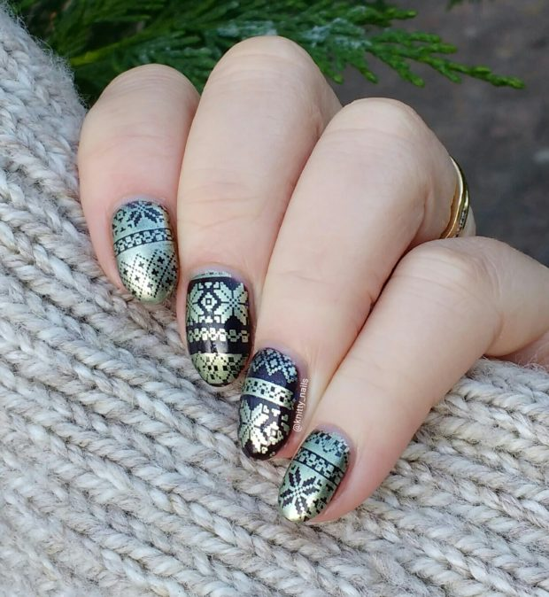 Cozy Sweater Nail Art Ideas for Cute Winter Look
