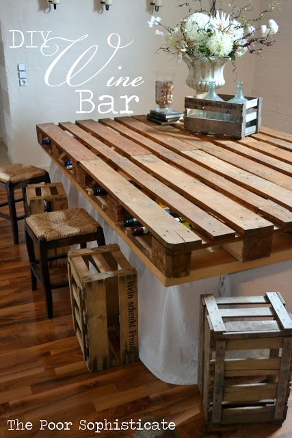 30+ Creative DIY Wine Bars for Your Home and Garden --> Dresser to Wine Bar