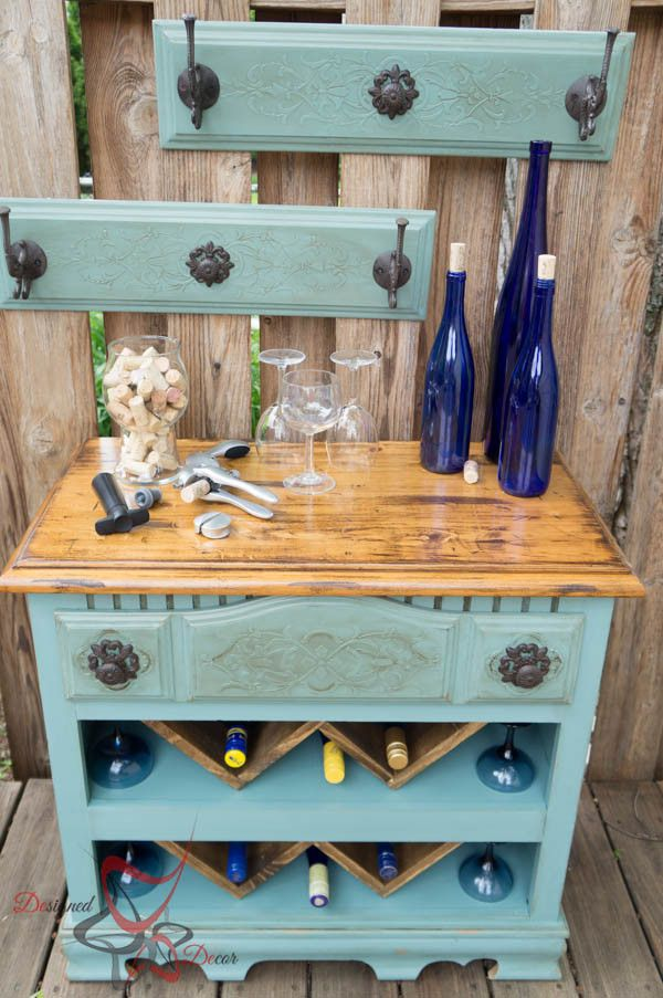 30+ Creative DIY Wine Bars for Your Home and Garden --> Old Dresser Turned Portable Bar