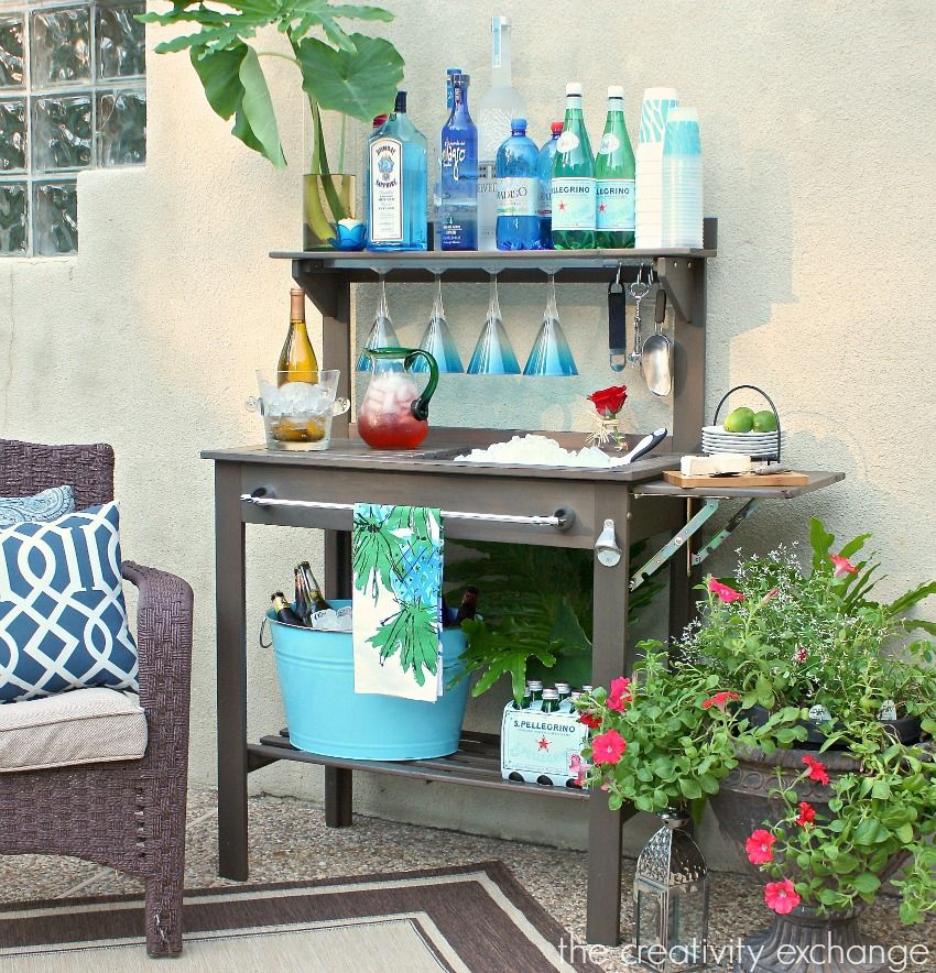 30+ Creative DIY Wine Bars for Your Home and Garden --> DIY Bar From Old Cabinet
