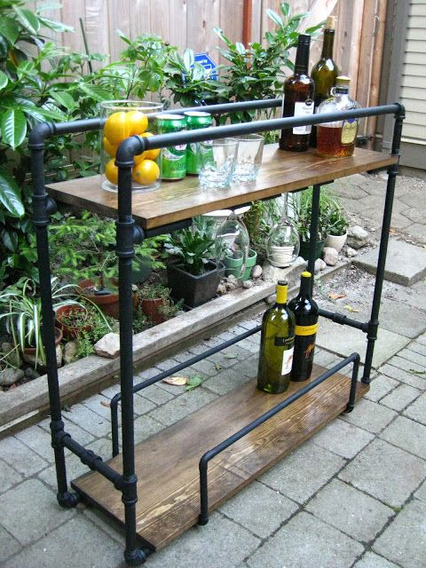 30+ Creative DIY Wine Bars for Your Home and Garden --> DIY Bar Cart from Old Changing Table