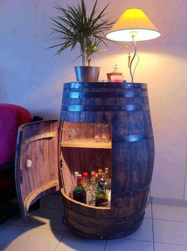 30+ Creative DIY Wine Bars for Your Home and Garden --> Turn A Bookcase Into A Bar