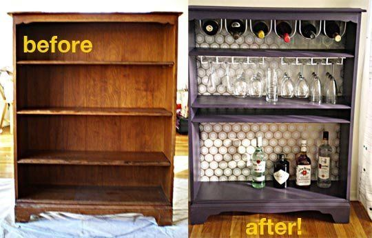 30+ Creative DIY Wine Bars for Your Home and Garden --> DIY Completely Free Pallet Wine Bar