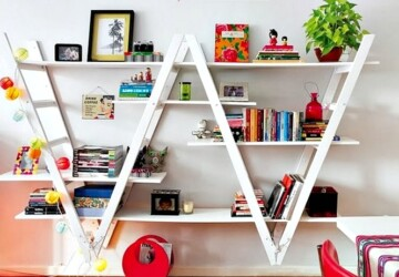 16 Awesome DIY Ideas For Bookshelves - DIY Ideas For Bookshelves, DIY bookshelves, diy