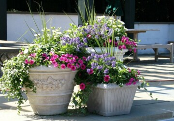 Welcome Spring: 17 Great DIY Flower Pot Ideas for Front Doors - Welcome Spring: 17 Great DIY Flower Pot Ideas for Front Doors, Welcome Spring, Front door, flower pot, diy spring home decor, diy outdoor, DIY Flower Pot Ideas, diy flower pot
