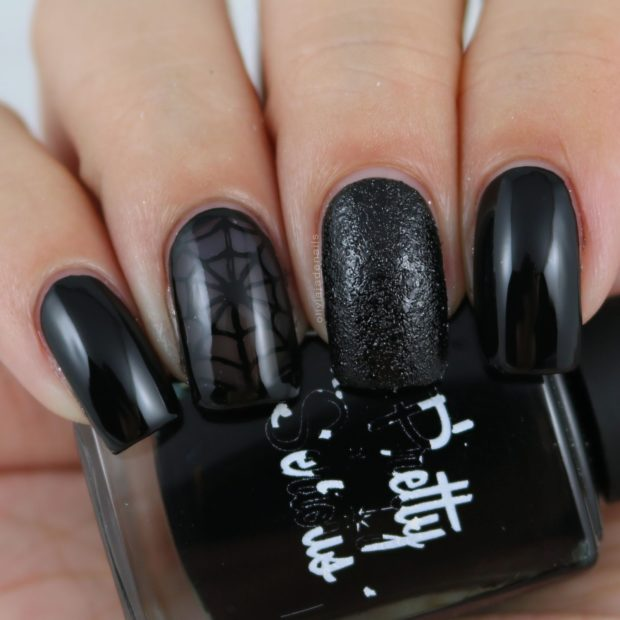 18 Bold Black Nail Art Designs and Ideas