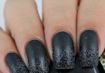 18 Bold Black Nail Art Designs and Ideas - Bold Black Nail Art Designs and Ideas, Bold Black Nail Art, black nails, Black Nail Art, Black Designs