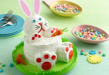 18 Creative and Sweet Ideas for Easter Bunny Cake - Easter recipes, Easter desserts, Easter decor, Easter Cake, Easter Bunny Cake, diy Easter