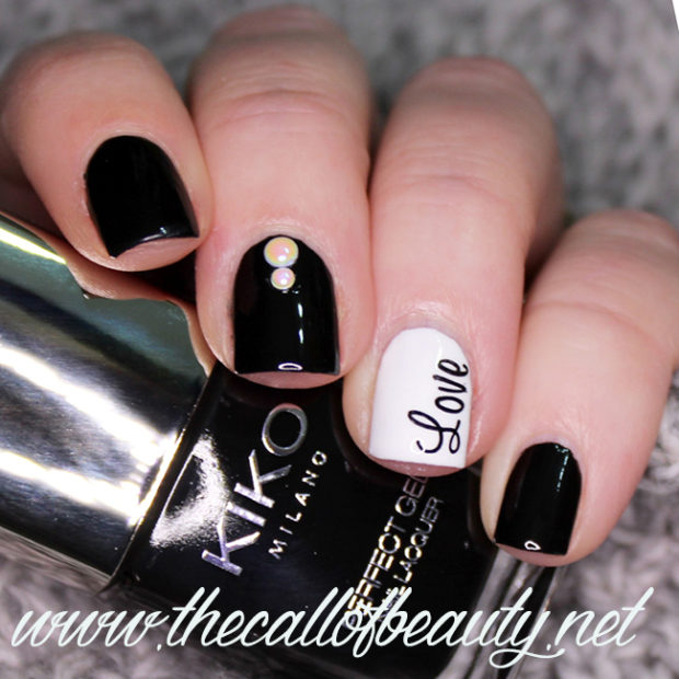 15 Unique Black and White Valentine's Day Nail Art Ideas