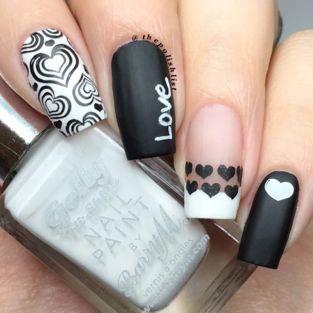 15 Unique Black And White Valentines Day Nail Art Ideas Style