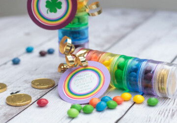 St. Patrick's Day DIY Ideas: 17 Amazing Rainbow Crafts - Rainbow Desserts, Rainbow Crafts, Diy St. Patrick's Day Decorations, DIY St. Patrick's Day