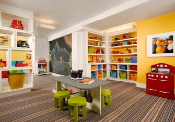 15 Colorful Kids Playroom Design and Decor Ideas - Playroom Design, kids rooms, kids reading nooks, Kids Playroom Design, Crafts For Kids