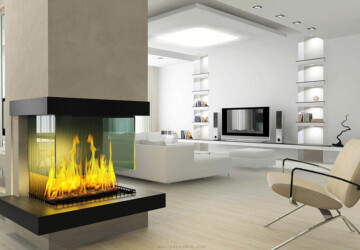 16 Unique Modern Fireplace Design Ideas - Modern Fireplace Design Ideas, living room fireplaces, Fireplace Design Ideas, fireplace design, fireplace