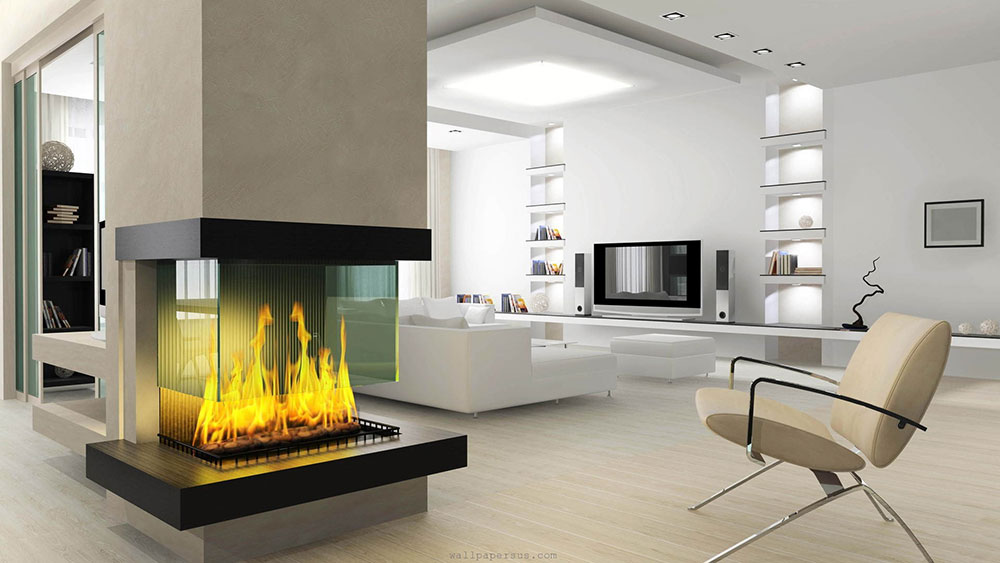16 Unique Modern Fireplace Design Ideas - Style Motivation