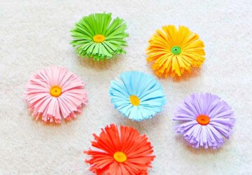 Welcome Spring: 20 Cute Paper Flower Crafts - Welcome Spring, Paper Flower Crafts, diy spring home decor, diy spring, diy paper flowers