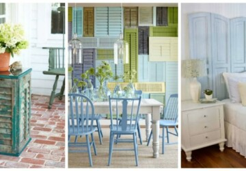 DIY Home Decor: 18 Ways to Repurpose Old Shutters - Shutters, Repurpose Shutters, Repurpose Old Windows, Repurpose Old Shutters, Repurpose, DIY Recycled Products