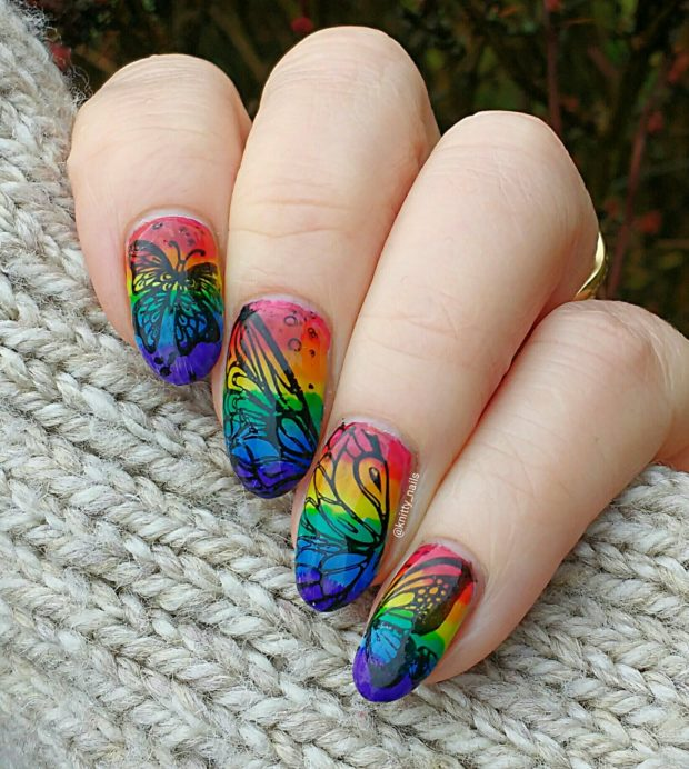 Gorgeous rainbow nail art designs you can do yourself style motivation gorgeous rainbow nail art designs you can do yourself solutioingenieria Gallery