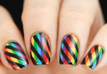 Gorgeous Rainbow Nail Art Designs You Can Do Yourself - spring nail art, Rainbow Nail Art Designs, Rainbow Nail Art, nail art ideas, Nail Art Designs, DIY St. Patrick's Day